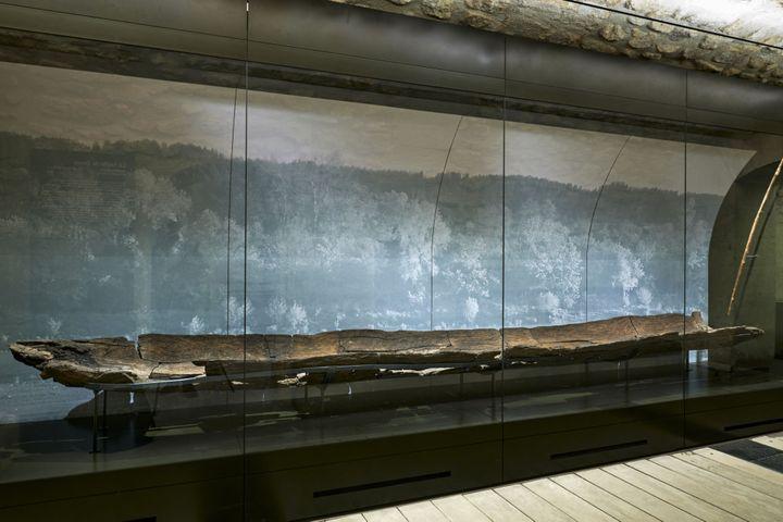 Pirogue monoxyle, collections du musée Carnavalet - Histoire de Paris (© Pierre Antoine)