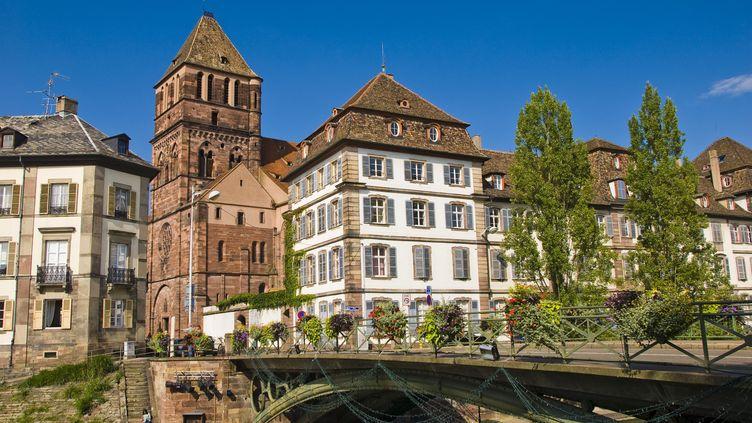 L'église Saint-Thomas de Strasbourg, où une chorale de musiciens syriens doit se produire, le 6 novembre 2015. (MAXPPP)