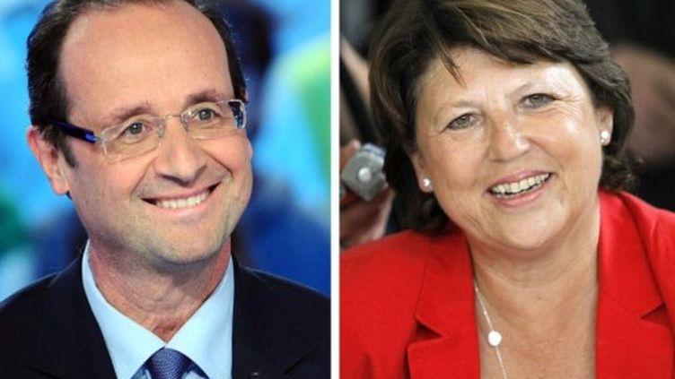 Martine AUbry et François Hollande (12 octobre 201) (AFP)