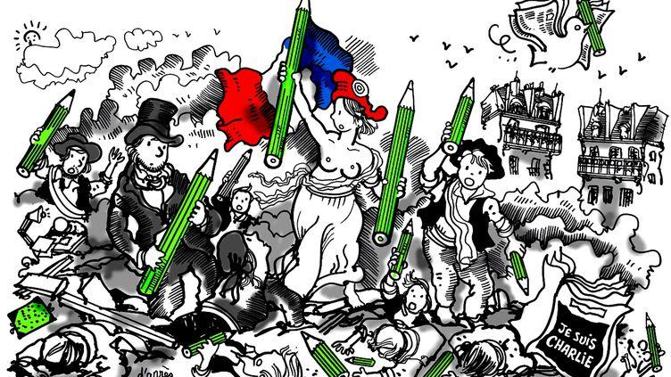 Dessin de Plantu, fondateur et président d'honneur de Cartooning for Peace (CAPTURE D'ÉCRAN FRANCE 3)