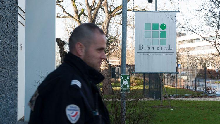 (Le laboratoire Biotrial à Rennes, en janvier. ©Mathieu Pattier/SIPA)