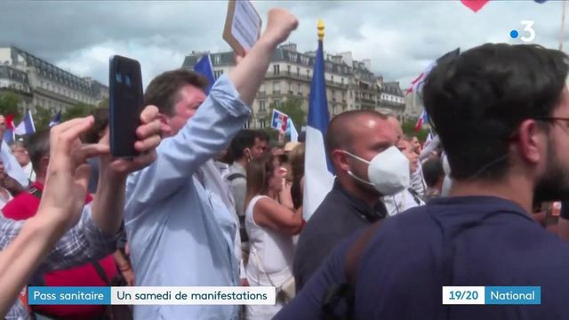 Pass sanitaire : un samedi de manifestations