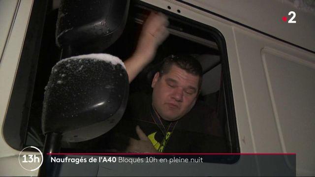 Ain :  la nuit cauchemardesque d'automobilistes bloqués sur l'A40O
