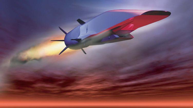 Une illustration du prototype d'avion hypersonique X-51A-WaveRider, de l'armée de l'air américaine. (US AIRFORCE / AFP)