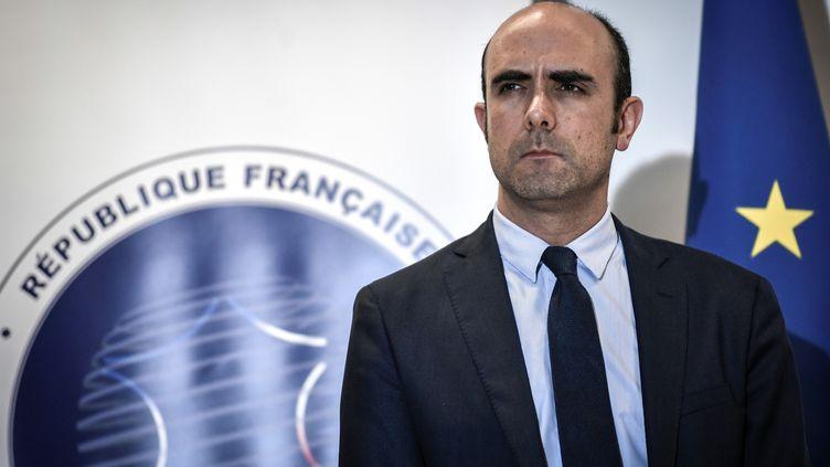 Nicolas Lerner, directeur de la DGSI, au siège de la direction, à Levallois-Perret, le 5 novembre 2018. (STEPHANE DE SAKUTIN / AFP)