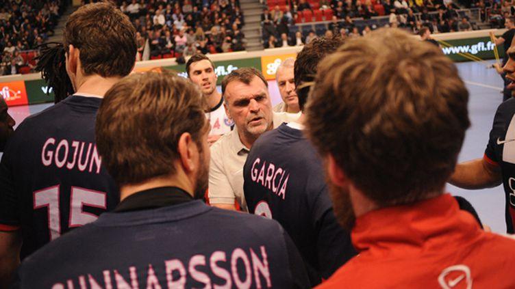 Le PSG Handball en plein temps mort (?FABRICE FOURES / MAXPPP)