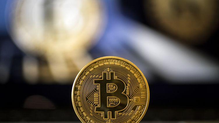 Le bitcoin est une monnaie virtuelle lancée en février 2009 et qui ne valait que quelques cents à cette époque. (JACK GUEZ / AFP)