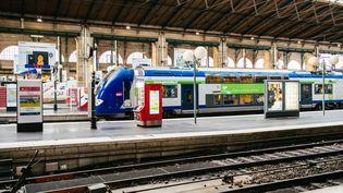 Un train à quai à la gare de l'Est, à Paris, le 29 décembre 2019. (MATHIEU MENARD / HANS LUCAS / AFP)