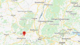 Territoire de Belfort. (GOOGLE MAPS)