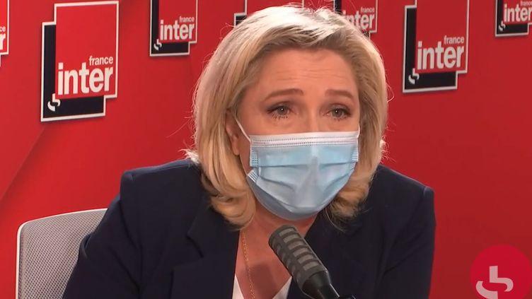Marine Le Pen,présidente du Rassemblement national, le 23 juin 2021 sur France Inter. (FRANCEINTER / RADIO FRANCE)