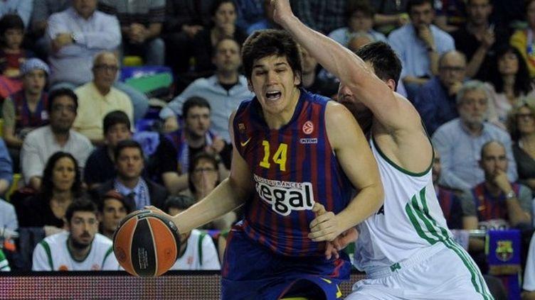Le Montenegrin Todorovic en action pour le Barça (LLUIS GENE / AFP)