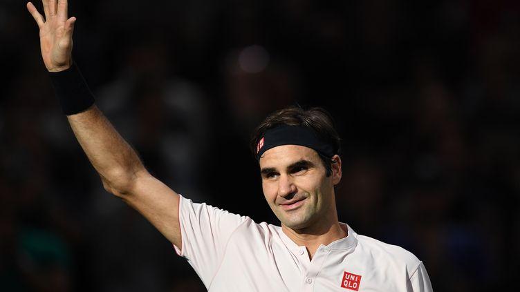 Roger Federer est en quart de finale à Bercy (ANNE-CHRISTINE POUJOULAT / AFP)