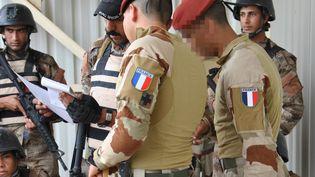 Des soldats français à Bagdad (Irak), en avril 2016 (VALERIE LEROUX / AFP)