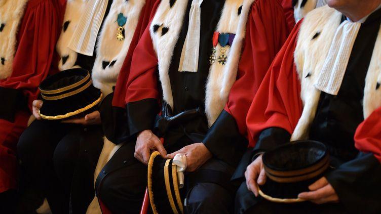Des magistrats à la cour d'appel de Paris, le 16 janvier 2017. (CHRISTOPHE ARCHAMBAULT / AFP)