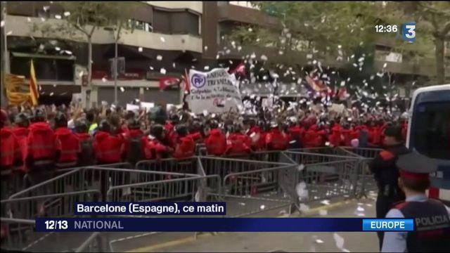 Référendum en Catalogne : la région en grève
