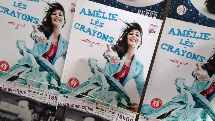 Chanter dans le Off d'Avignon, une première pour Amélie-les-crayons.  (Chrystel Chabert)