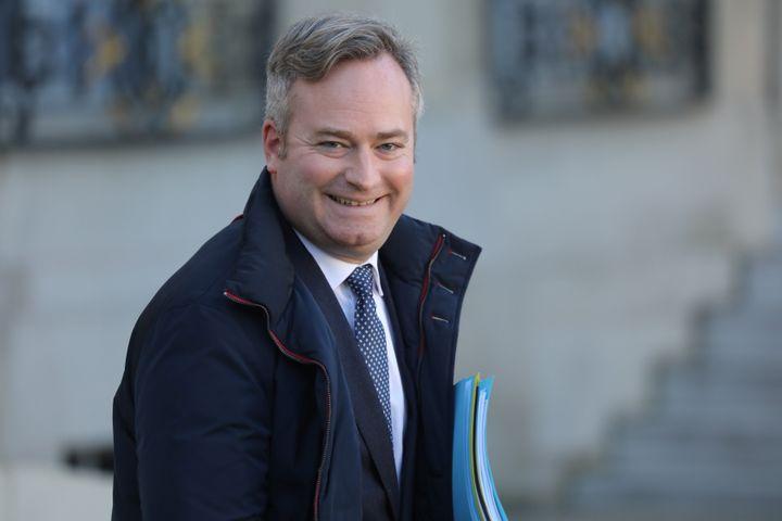 Le secrétaire d'Etat Jean-Baptiste Lemoyne après un Conseil des ministres, le 6 janvier 2020. (LUDOVIC MARIN / AFP)