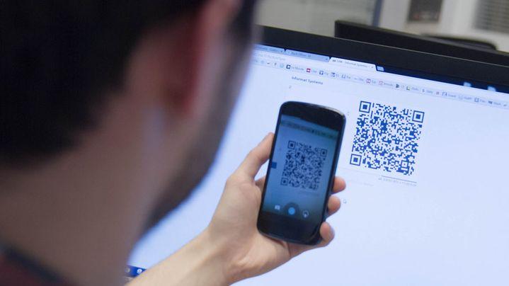 Un paiement en bitcoins sur le site de matériel informatique Achatnet.pro. (ELODIE DROUARD / FRANCETV INFO)