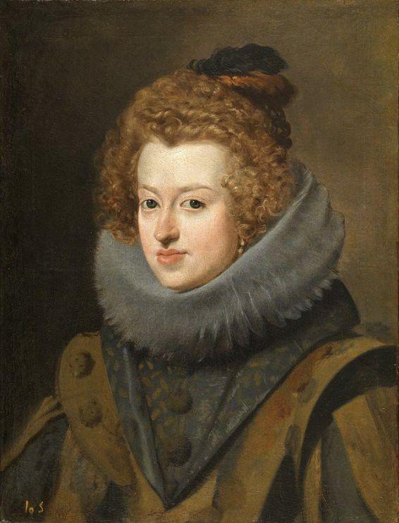"""""""Marie d'Autriche, reine de hongrie"""" par Velázquez  (Musée du Prado )"""