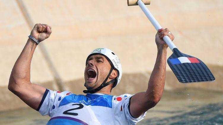 Denis Gargaud Chanut, le 9 août 2016aux Jeux olympiques deRio. (OLIVIER MORIN / AFP)