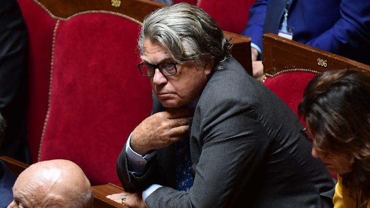 Gilbert Collard, dans la salle du Congrès, au château de Versailles, le 3 juillet 2017. (MARTIN BUREAU / AFP)