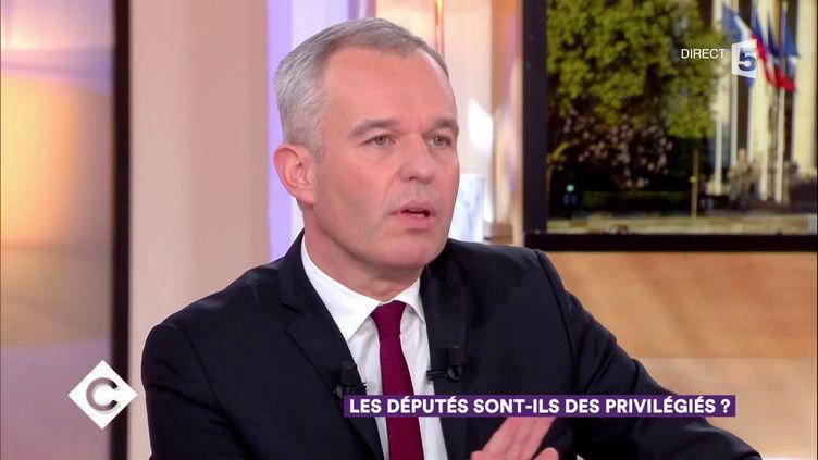 """François de Rugy, président de l'Assemblée nationale, sur le plateau de """"C à Vous"""", sur France 5, le 23 janvier 2018. (FRANCE 5)"""