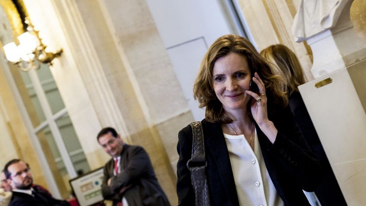 Nathalie Kosciusko-Morizet quitte l'Assemblée nationale, à Paris, le 25 novembre 2014. (AURÉLIEN MORISSARD / CITIZENSIDE / AFP)