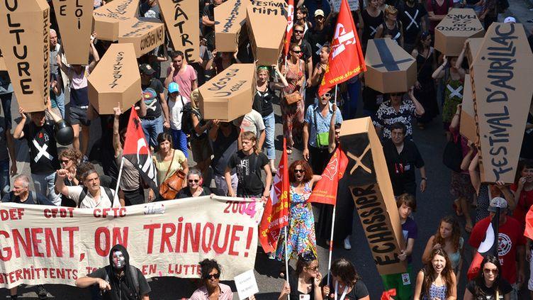 MAnifestation d'intermittents le 26 juin 2014 à Marseille  (CITIZENSIDE/GERARD BOTTINO)