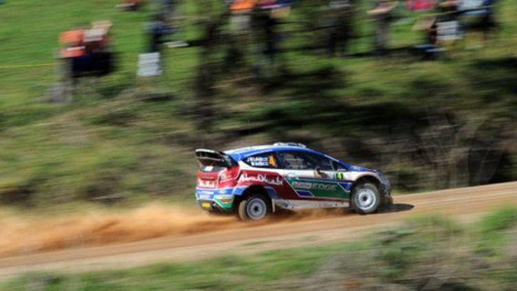 Jari-Matti Latvala au volant de sa Ford Fiesta