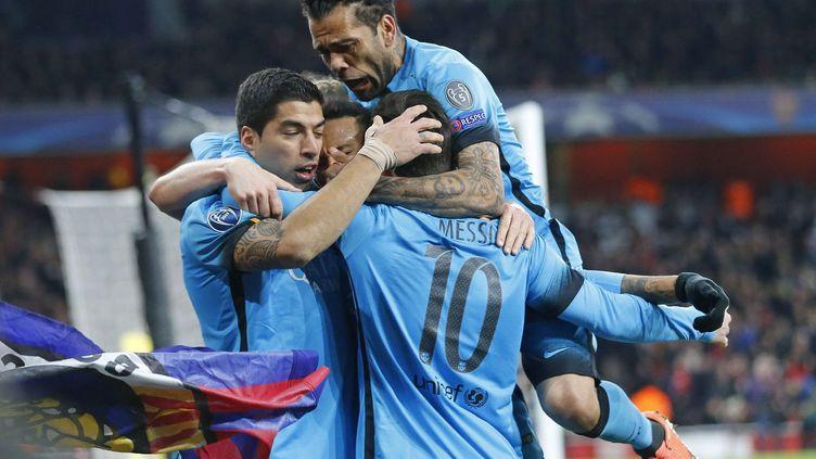 Le Barça de Lionel Messi s'est imposé à Arsenal (0-2). (FRANK AUGSTEIN/AP/SIPA / AP)