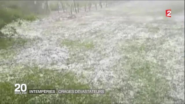 Intempéries : fortes pluies et chutes de grèle en Vendée