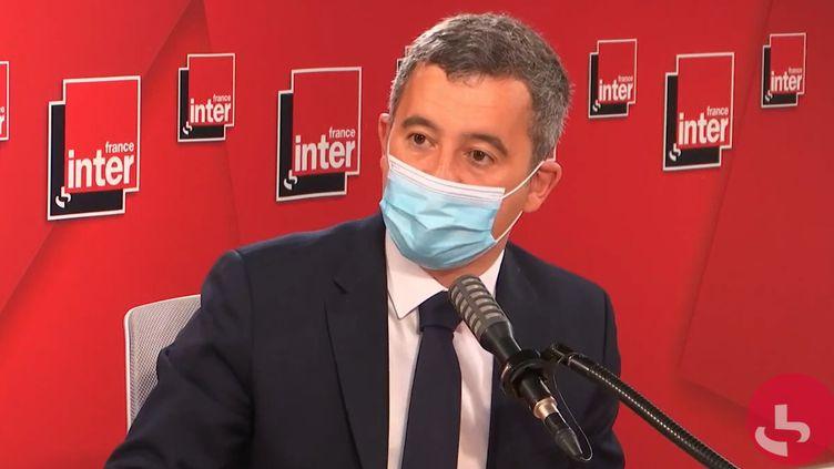 Gérald Darmanin, ministre de l'Intérieur, le 19 mai 2021 surFrance Inter. (FRANCEINTER / RADIO FRANCE)