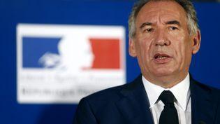François Bayrou lors de la cérémonie de passation de pouvoirs à Paris, le 22 juin 2017. (GEOFFROY VAN DER HASSELT / AFP)