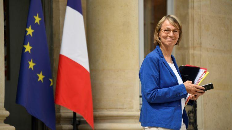 La ministre de la Culture, Françoise Nyssen, sort de l'Elysée, le 11 juillet 2018. (BERTRAND GUAY / AFP)