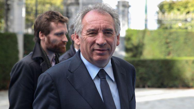 François Bayrou, lors d'un sommet de l'Union européenne à Bruxelles, le 17 octobre 2019. (ARIS OIKONOMOU / AFP)