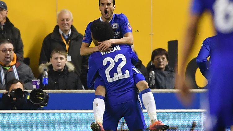 Pedro a ouvert le score pour les Blues (BEN STANSALL / AFP)