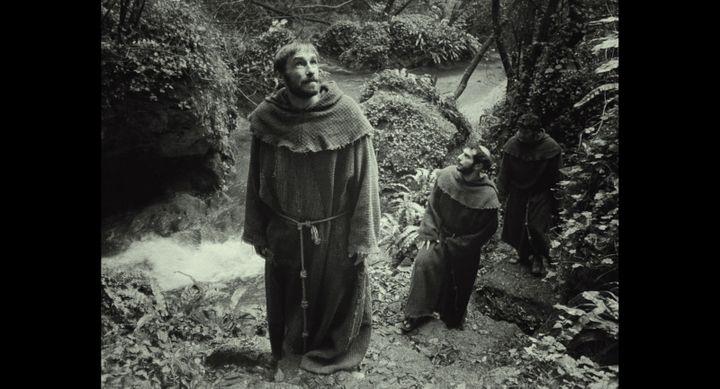 Image du Poverello (Saint-François) issue d'un autre film, reprise par Wim Wenders.  (PFAMOHW-Wenders)