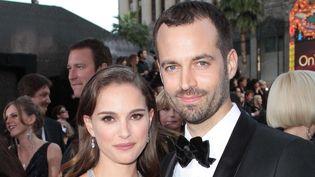 Benjamin Millepied et Nathalie Portman aux Oscars 2012  (Jim Smeal / BEImages/BEIMAGES/MAXPPP )