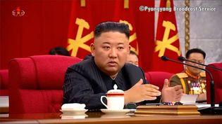 Le dirigeant de la Corée du Nord,Kim Jong-un, le 18 juin 2021. (EYEPRESS NEWS / AFP)