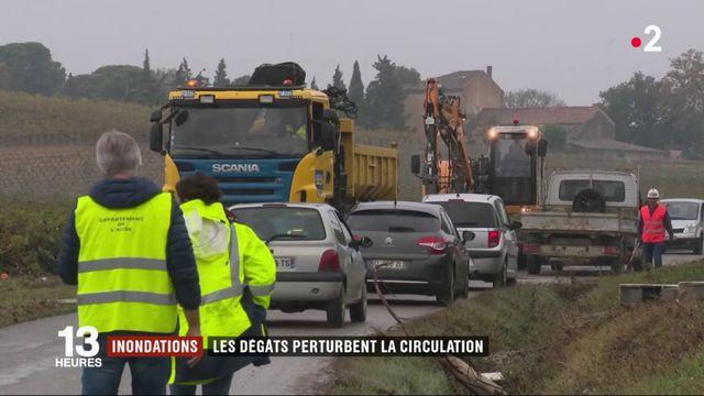 Aude : la reconstruction des routes s'amorce