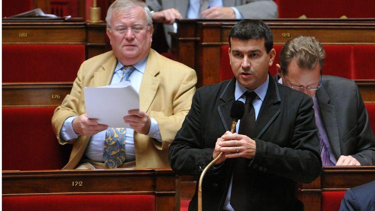 Le député de l'Aube Nicolas Dhuicq, le 30 septembre 2010 à l'Assemblée nationale. (CHRISTOPHE PETIT TESSON / MAXPPP)