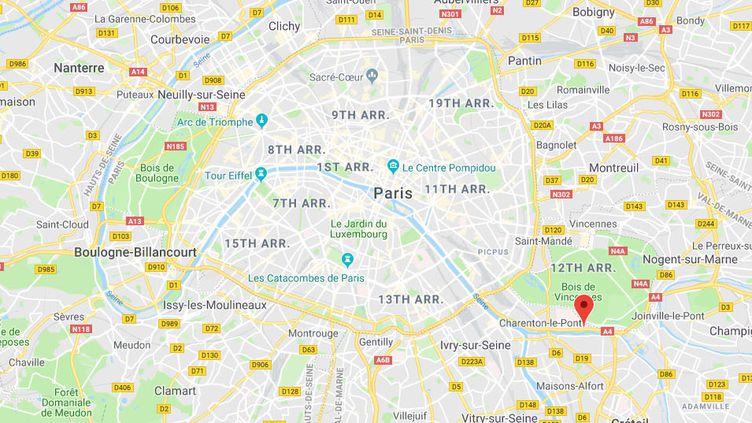 La commune de Saint-Maurice dans le Val-de-Marne près de Paris. (GOOGLE MAPS / FRANCETV INFO)