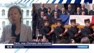 Anne Bourse est en direct de la cour des Invalides. Elle revient sur la cérémonie d'hommage national à Simone Veil. (FRANCE 3)
