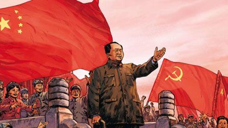 Image de la couverture d'une bande dessinée «Mao Zedong» (de Jean-David Morvan, Frédérique Voulyzé et Rafael Ortiz, avec les conseils historiques de Jean-Luc Domenach). (Glenat/Fayard)