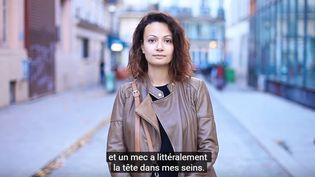 Capture d'écran d'une vidéo dénonçant le harcèlement sexuel, le 23 octobre 2017. (LEA BORDIER)