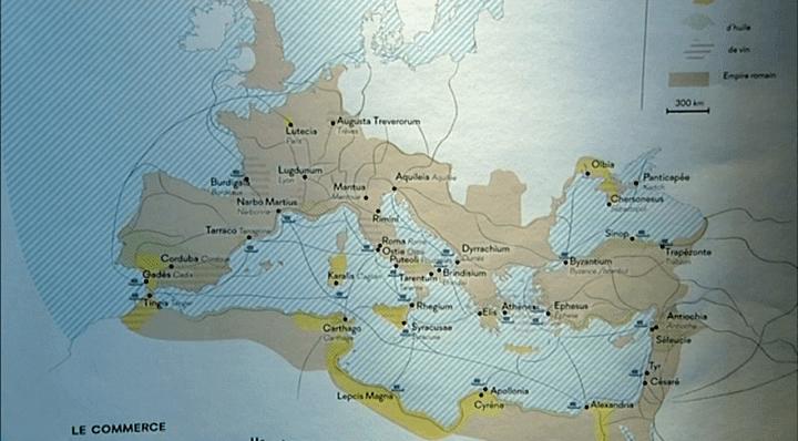 """Carte de la """"Pax Romana""""  (France 3 / Culturebox)"""