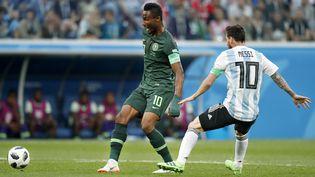 Le Nigerian John Obi Mikel, le 26 juin 2018 à Saint-Pétersbourg (Russie) contre l'Argentine. (STANLEY GONTHA / PRO SHOTS / AFP)