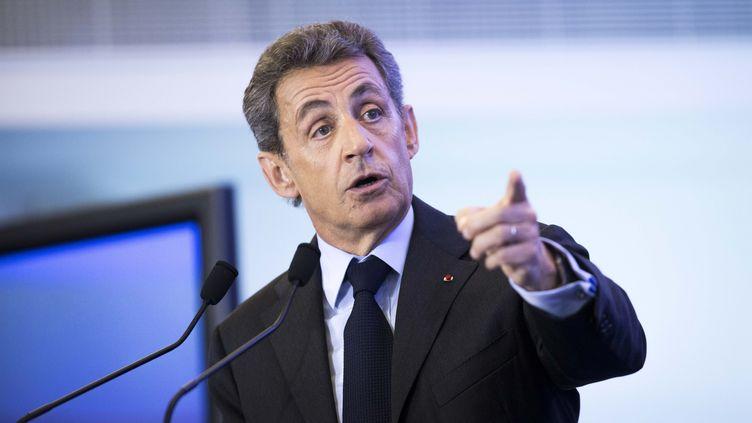 Nicolas Sarkozy, au siège des Républicains, à Paris, le 3 mai 2016. (MAXPPP)
