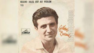 """Pochette du disque """"Quand Jules est au violon"""" de Gilbert Bécaud. (La voix de son maître)"""