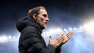 L'entraîneur du PSG Thomas Tuchel lors d'un match du club parisien le 18 décembre 2019 au Mans (Sarthe). (FRANCK FIFE / AFP)